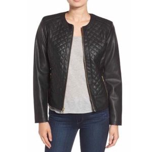 Cole Haan Signature Quilted Faux Leather Jacket
